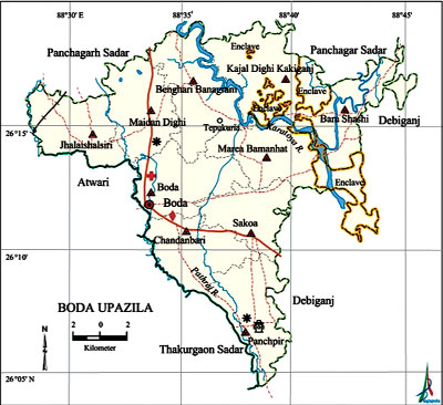 Image result for Boda upazila map