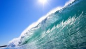 3D model shows  sea waves move materials