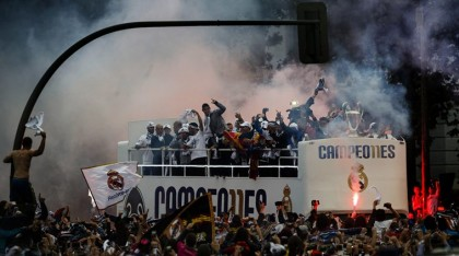 Fans welcome Real Madrid back home after Champions League title