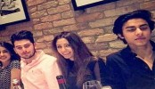 Big B's Granddaughter, SRK's Son Spotted at Dinne