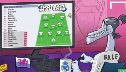Bale Plays Football Manager
