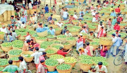Mango traders crowd at the Baneshwar wholesale market | 2016