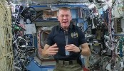 British astronaut on way to earth after historic space visit