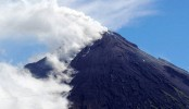 Philippine volcano spews ash smoke into air