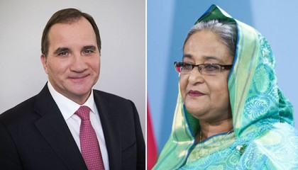 Swedish PM phones Sheikh Hasina, seeks Bangladesh's support