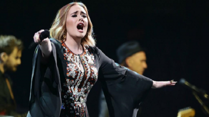 Emotional Adele wows Glastonbury