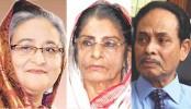 PM sends eid cards to Raushon, Ershad