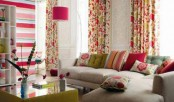Decorating house with floral prints and texture