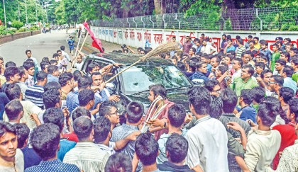 DU acting registrar removed, attack on VC's car