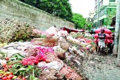 Road turns to a dumping ground