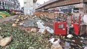Jatrabari roads covered with garbage