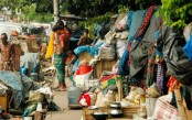Displaced families, garages occupy footpaths in Paribagh
