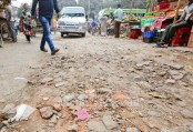 New Market : Dilapidated road poses threat to commuters
