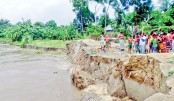 Arial Khan river erosion makes 500 homeless in Faridpur