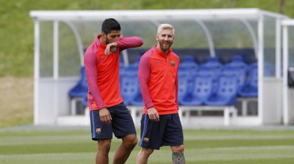 Lionel Messi readies for new season with casual nutmeg of Luis Suarez