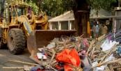 Rajuk eviction drive on at Dhanmondi