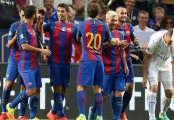 Barcelona 4-2 Leicester: Lionel Messi and Luis Suarez run riot