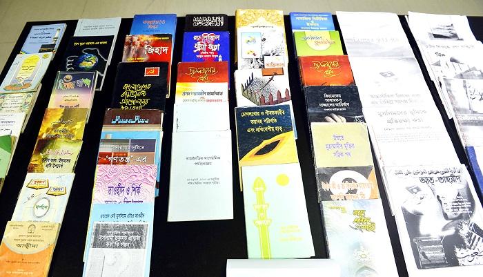 Huge Jihadi books recovered from CU female halls