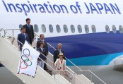 Olympic flag arrives in Tokyo, host of next Summer Games