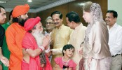 Khaleda's greetings exchange with Hindu community Saturday