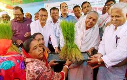 Matia distributes agro inputs among flood-hit farmers