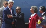 US secretary of state John Kerry reaches Prime Minister's Office