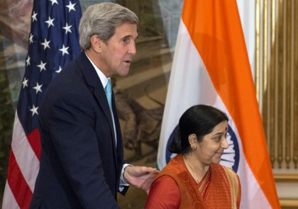 Kerry arrives in India for trade, security talks