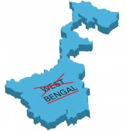 West Bengal to be renamed as 'Bengal'