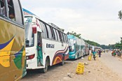 Traffic gridlock on highways ease further