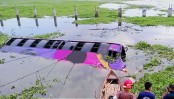Ashulia bus plunge leaves 2 dead
