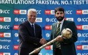 Misbah receives Test mace for no. 1 ranking