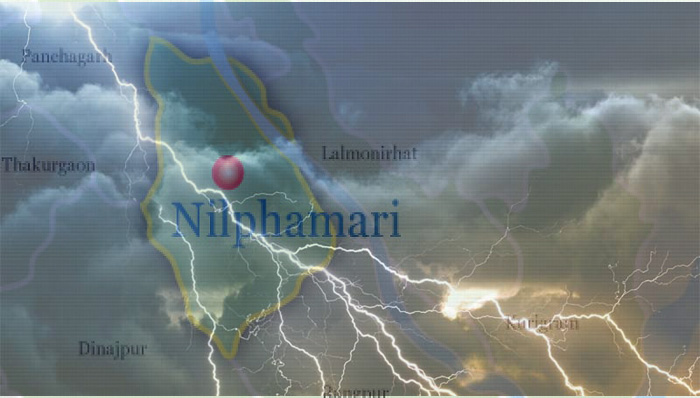 One killed by lightning strike in Nilphamari