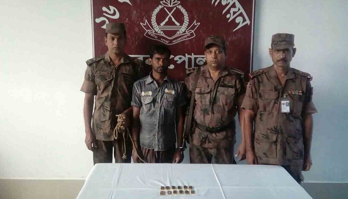 One held with 12 gold bars in Jessore