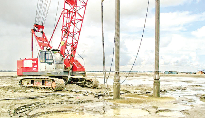 Piling work is being done