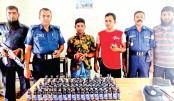 Police arrested a drug peddler