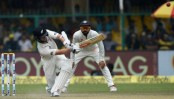 NZ 71-1 in response to India's 318 in 1st test