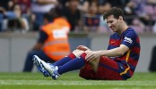 Argentina coach blasts Barcelona over Lionel Messi injury
