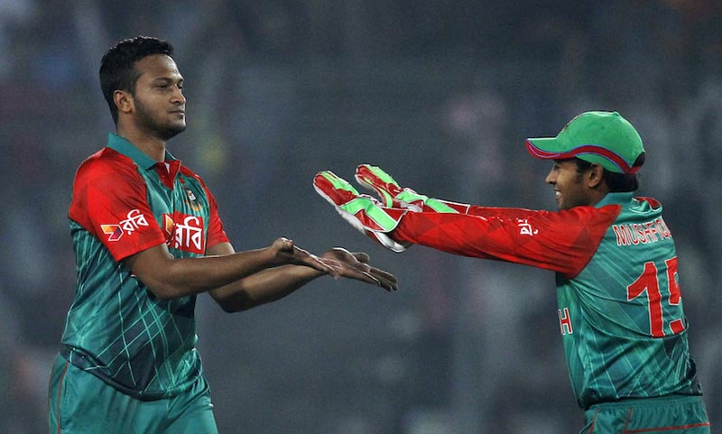 Afghanistan in pressure after Shakib's double strike