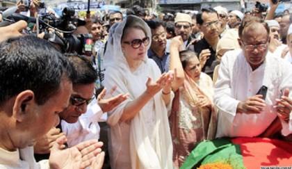 Khaleda pays homage to Hannan Shah