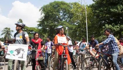 Chhatra League activists, cops foil pro-Sundarban bicycle rally