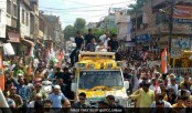 Rahul Gandhi Begins His Road Show In Mathura