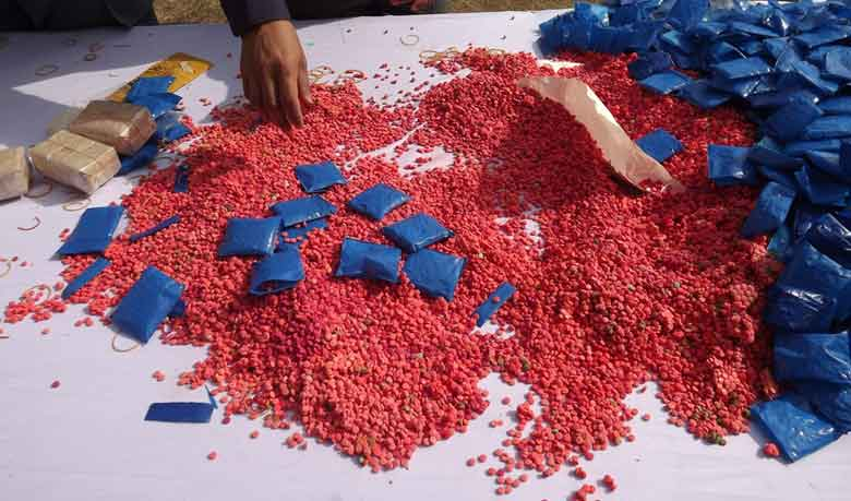 35 held with 54,824 yaba tablets in city