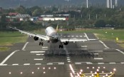 Terrifying moment plane's landing is badly affected by heavy winds (watch video)