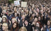Women in Poland strike to protest proposal for abortion ban