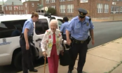 102-year-old woman checks 'getting arrested' off bucket list