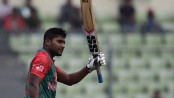 Imrul Kayes hits hundred