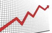 Stock market showing positive