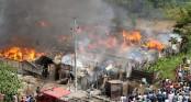 Fire gutted 35 shanties in Hazaribagh