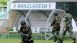 Security drill by military at Mirpur Stadium ahead of England game
