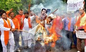 Indian actor Salman Khan's effigy burnt